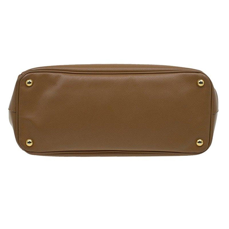 Prada Caramel Saffiano Lux Leather Large Double Zip Tote at 1stdibs e9cb96ecec143