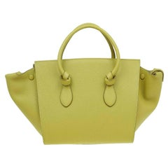 Celine Olive Green Leather Mini Tie Tote