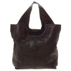Givenchy Dark Brown Nappa Leather George V Tote