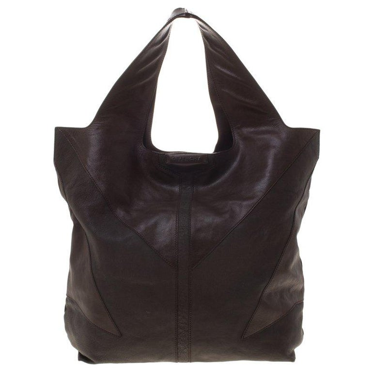 41a57f28f2f Givenchy Dark Brown Nappa Leather George V Tote For Sale at 1stdibs