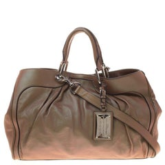 Dolce and Gabbana Copper Holographic Leather Miss Brooke Bag