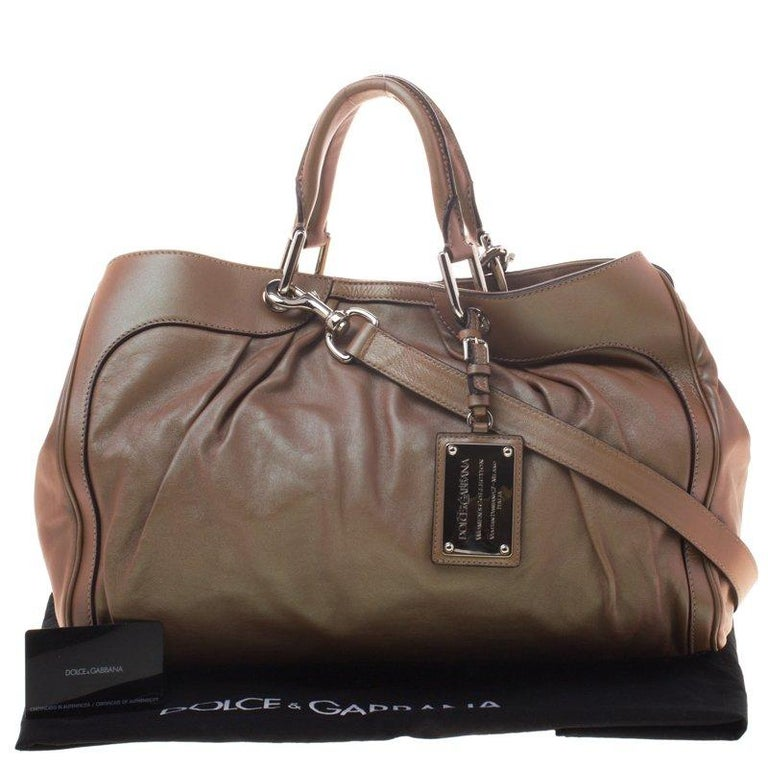 Dolce And Gabbana Copper Holographic Leather Miss Brooke Bag For 4