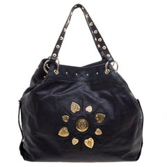 Gucci Holographic Black Leather Irina Tote