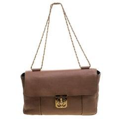 Chloe Brown Leather Large Elsie Shoulder Bag