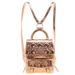 Dior Metallic Bronze Ceramic Effect Leather Stardust Backpack