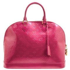 Louis Vuitton Rose Litchi Monogram Vernis Alma GM Bag