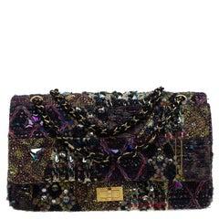 Chanel Multicolor Lesage Tweed Jewel Encrusted 2.55 Reissue Classic 227 Flap Bag