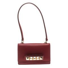 Valentino Red Leather Mini Va Va Voom Flap Front Shoulder Bag