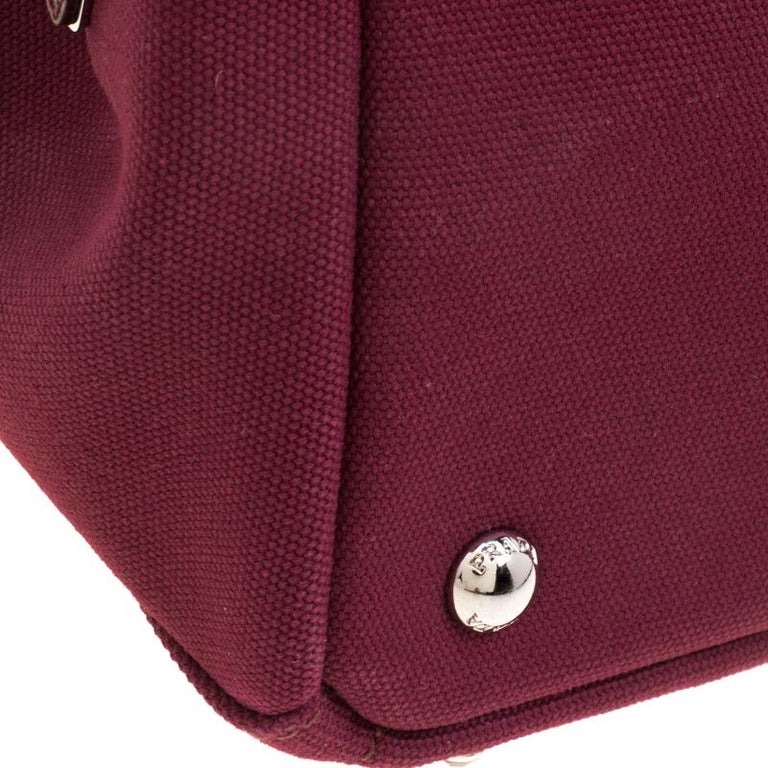 f1140d673c1c5b Women's Prada Burgundy Canvas Studded and Crystal Gardener's Tote For Sale