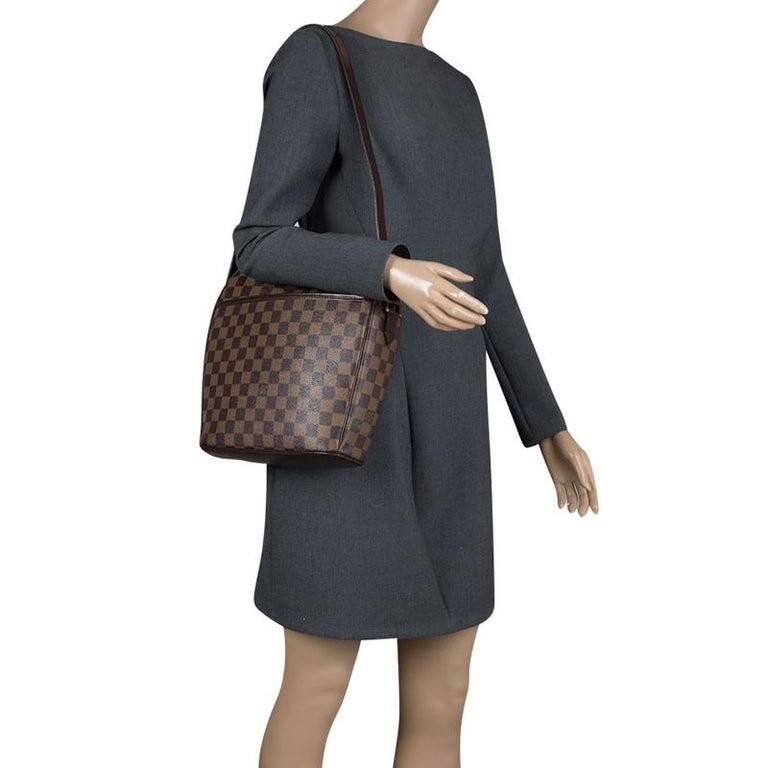 2cace8524a36 Black Louis Vuitton Damier Ebene Canvas Ipanema GM Bag For Sale
