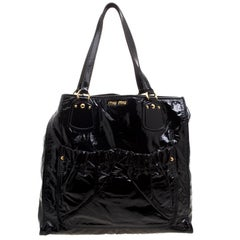 Miu Miu Black Patent Leather Tote