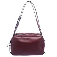 Valentino Burgundy Leather Bag