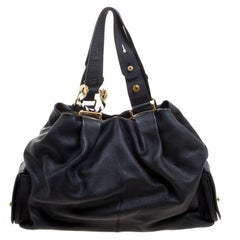 Bvlgari Black Leather Leoni Satchel