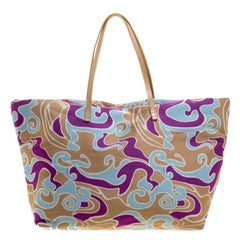 Fendi Multicolor Printed Fabric Roll Tote