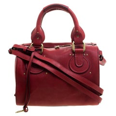 Chloé Red Leather Aurore Satchel