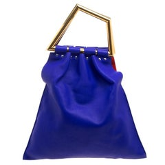 Celine Indigo Leather Open Triangle Bag