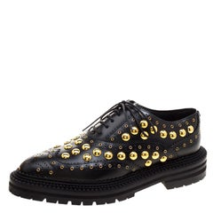 692ad9b93d7 Black Leather Coledale Tassel Detail Pointed Toe Penny Loafers Size ...