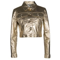 Moschino Gold Long Sleeve Jacket S