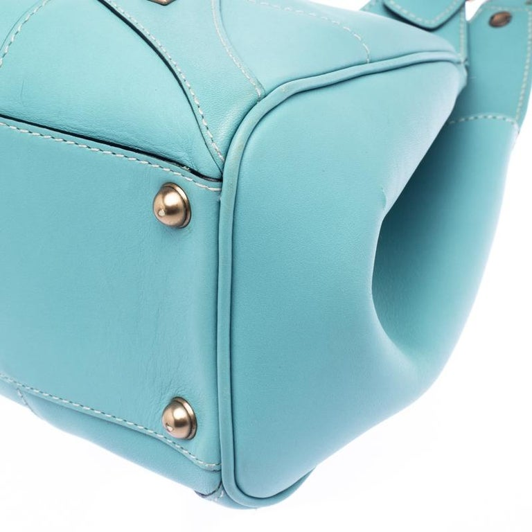 573ff0d46 Gucci Turquoise GG Canvas and Leather Jackie O Hobo For Sale 5