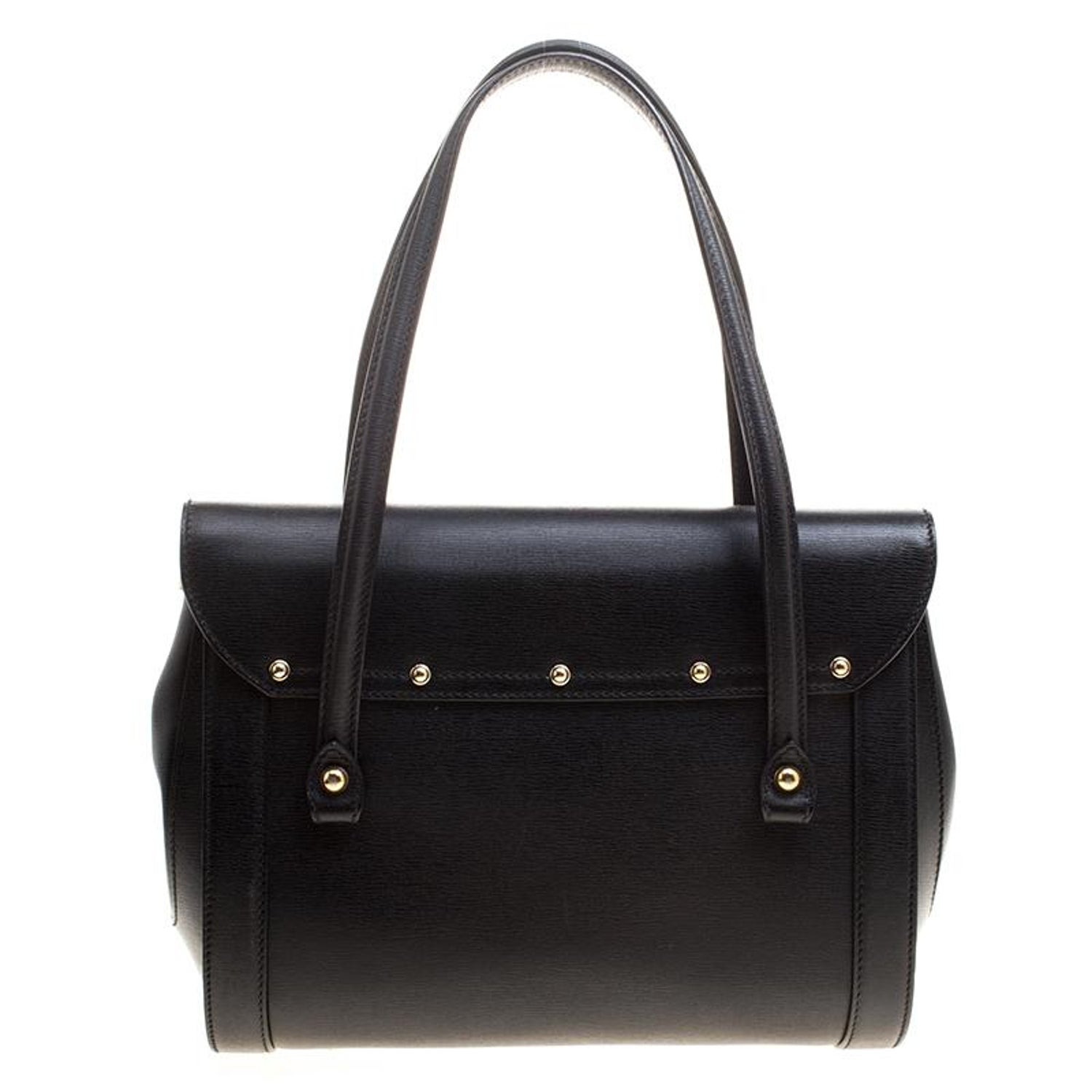 a432e6cdfbf Gucci Black Leather Small Bamboo Top Handle Bag At 1stdibs. Gg Marmont  Velvet ...
