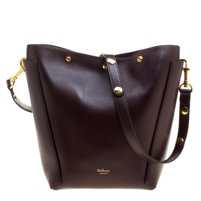 2aba35767246 Mulberry Dark Burgundy Leather Camden Bucket Bag at 1stdibs