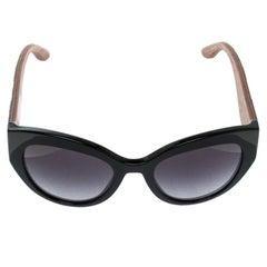 Dolce and Gabbana Black DG 4278 Sicilian Carretto Cat Eye Sunglasses