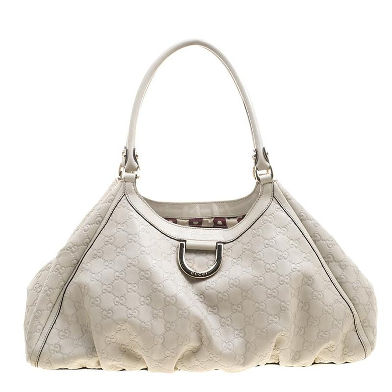 c224a4d077d fabulous gucci beige guccissima leather large d ring top handle bag for  sale with gucci guccissima medium hobo bag white p