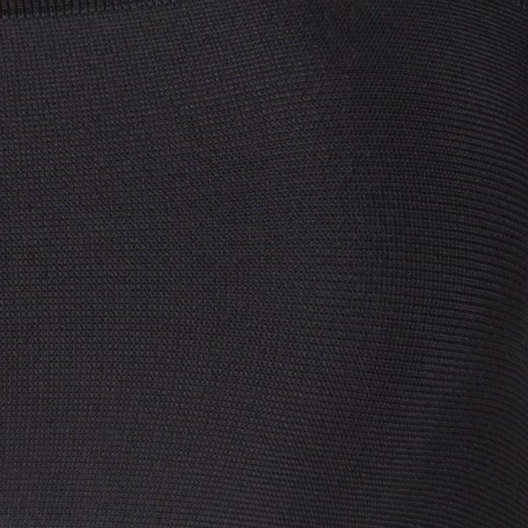 Women's Balmain Black Knit Cutout Bandeau Top S For Sale