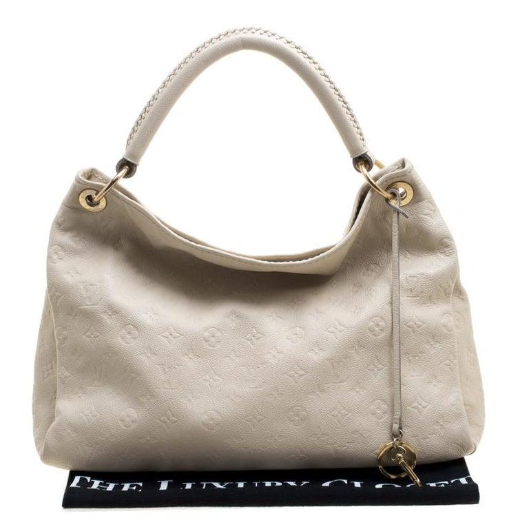 Louis Vuitton Cream Monogram Empreinte Leather Artsy Mm Bag For 5