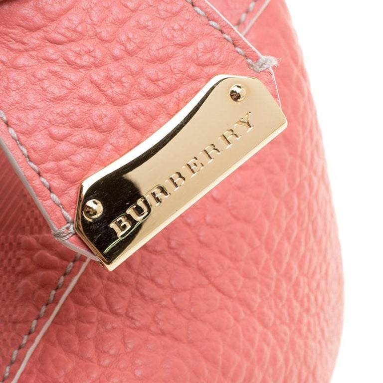 5c5dda50371c Burberry Pink Embossed Leather Canterbury Tote with Pouch at 1stdibs