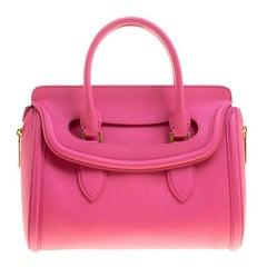 Alexander McQueen Pink Leather Small Heroine Satchel