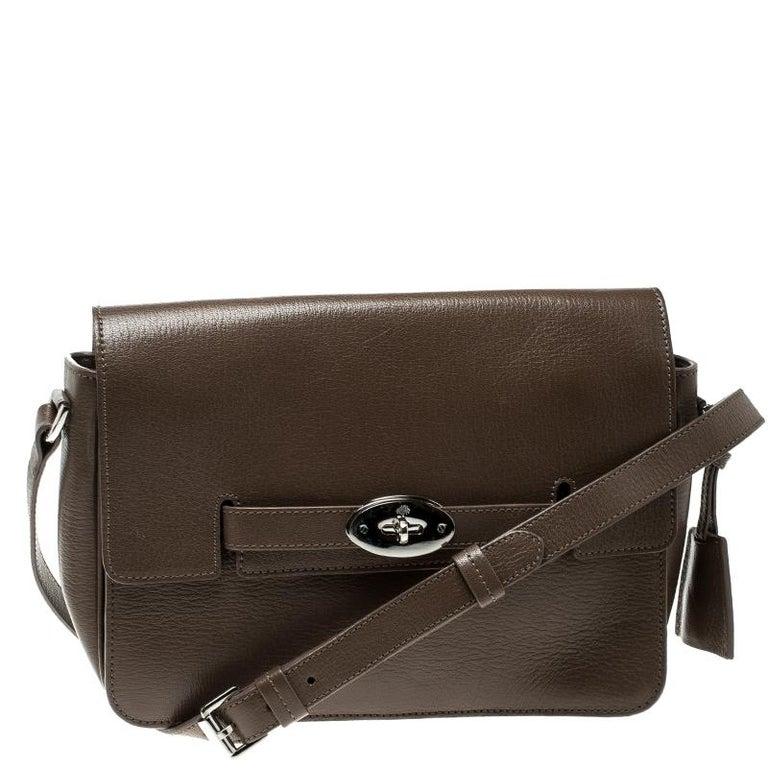 efdccc53bed0 Mulberry Brown Leather Bayswater Shoulder Bag