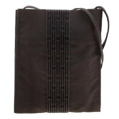 Hermes Herline Black Canvas Cross-body Pouch Pochette