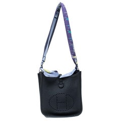 Hermes Ardoise Grey Clemence Leather Evelyne II TPM Bag