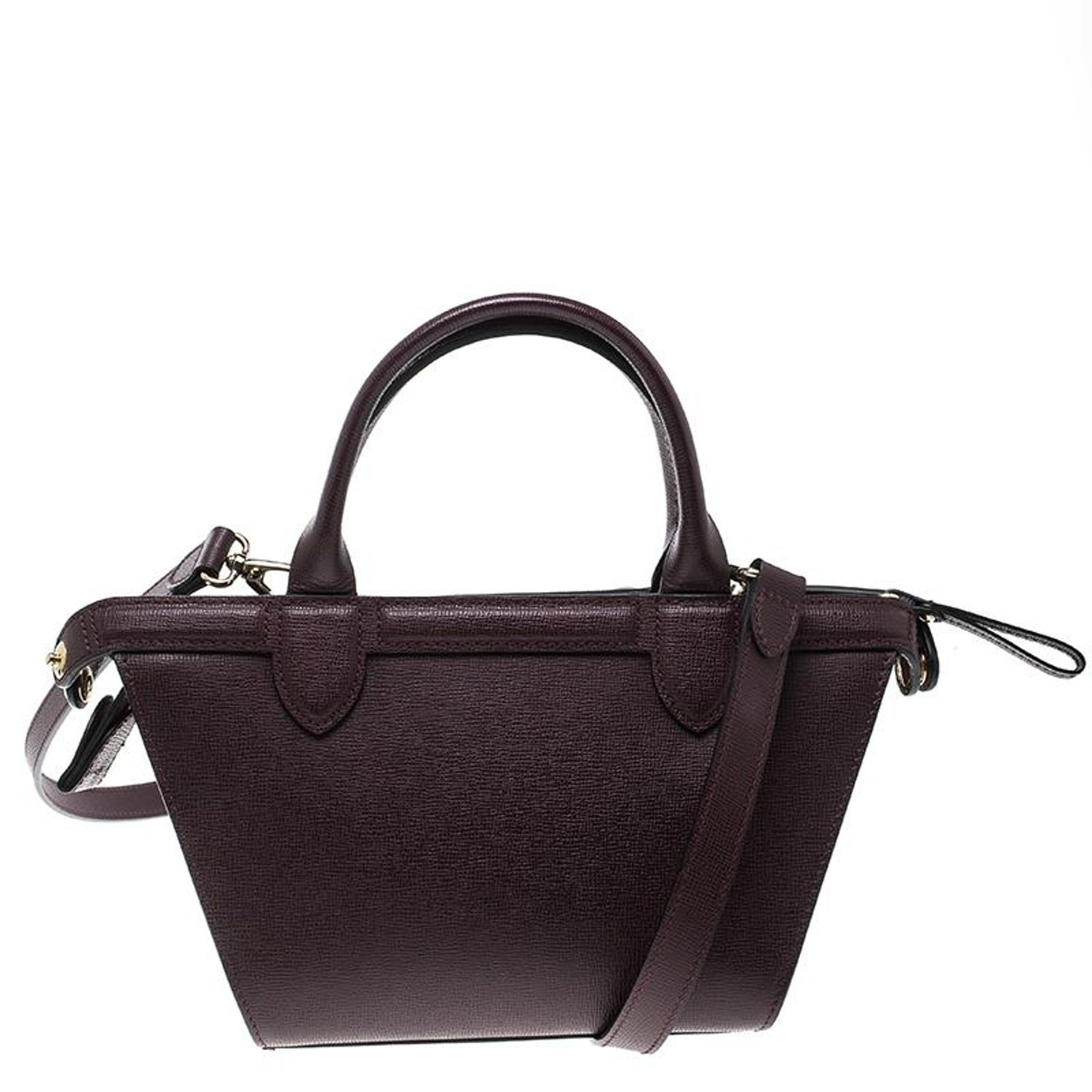 7739488d493 Longchamp Burgundy Leather Small Le Pliage Heritage Tote at 1stdibs