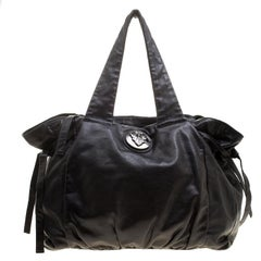 Gucci Black Leather Large Hysteria Tote