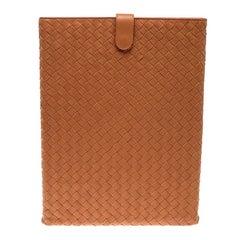 Bottega Veneta Orange Intrecciato Leather Ipad Case