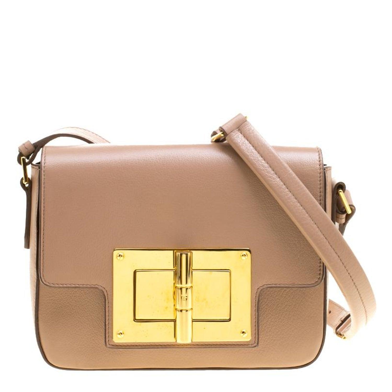 680721af65de0b Tom Ford Blush Pink Leather Medium Natalia Shoulder Bag at 1stdibs