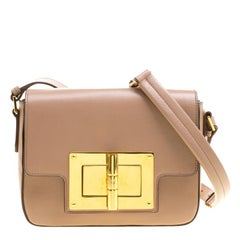 Tom Ford Blush Pink Leather Medium Natalia Shoulder Bag