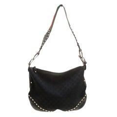 Gucci Black GG Canvas Medium Pelham Shoulder Bag