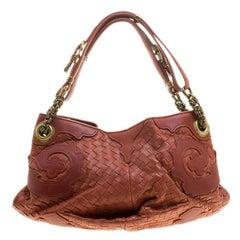 Bottega Veneta Copper Intrecciato Leather Shoulder Bag