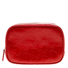 Dior Red Patent Leather Trousse Cosmetic Bag