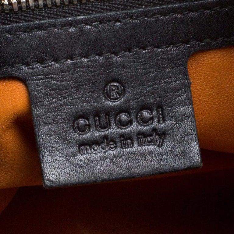 Gucci Black Leather New Jackie Shoulder Bag For Sale 7