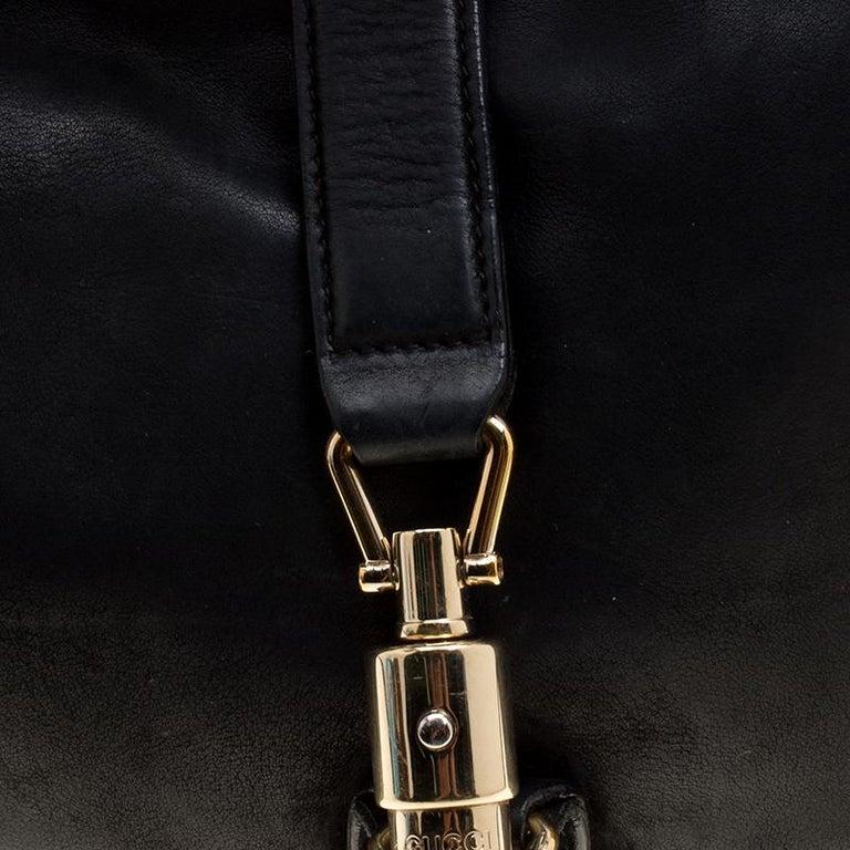 Gucci Black Leather New Jackie Shoulder Bag For Sale 6