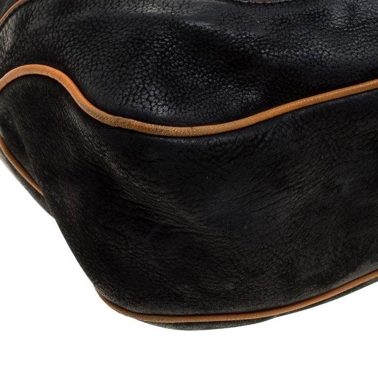 Gucci Black Leather New Jackie Shoulder Bag For Sale 3