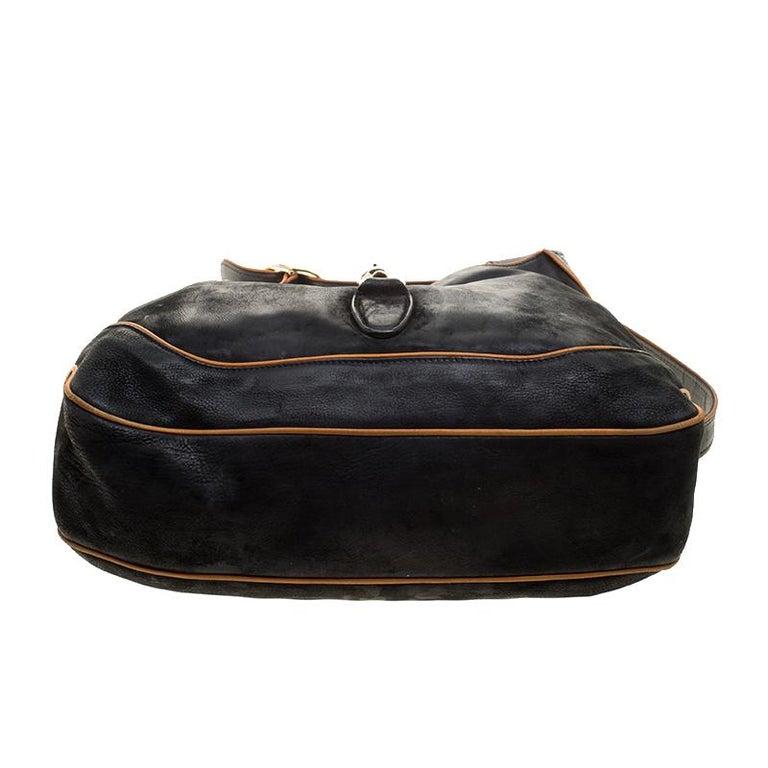 Gucci Black Leather New Jackie Shoulder Bag For Sale 1