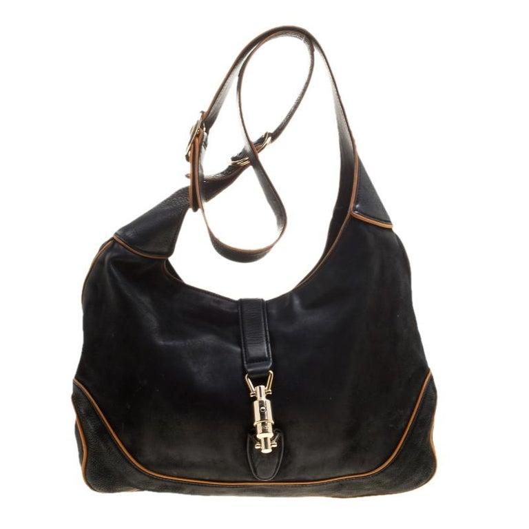 a5df82f78 Gucci Black Leather New Jackie Shoulder Bag at 1stdibs