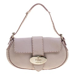 Fendi Lilac Leather Selleria Shoulder Bag