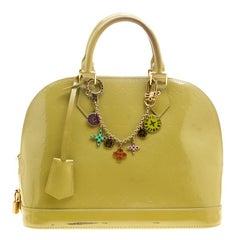 Louis Vuitton Vert Impression Monogram Vernis Alma PM Bag