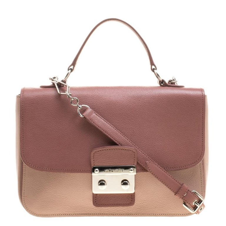 Miu Miu Beige Leather Madras Top Handle Crossbody Bag at 1stdibs c58cef2e7e03b
